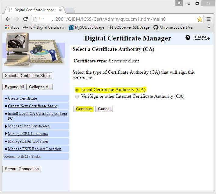 DataGate SSL Deployment: DataGate for IBM i