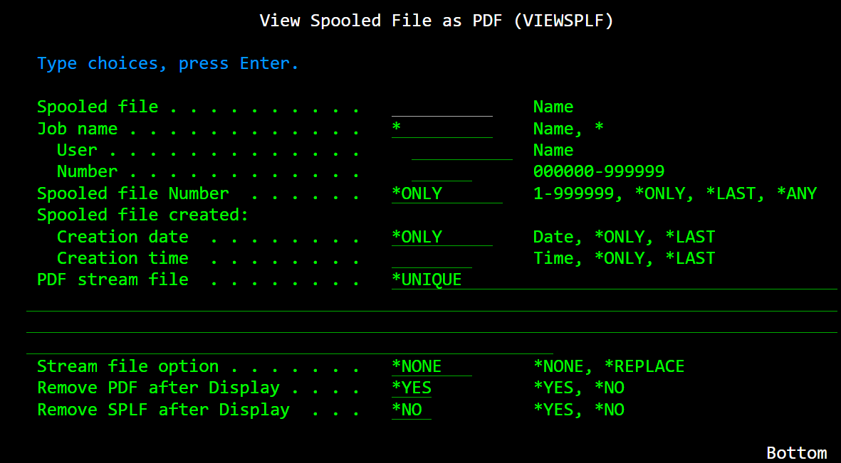 Spooled File Viewer